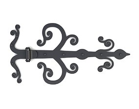 3D model Retro door gate hinges 22