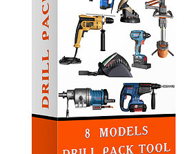 3D model Drill pack tools