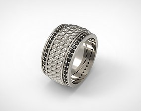 3D printable model David Yurman Maritime Rope Band Ring 2