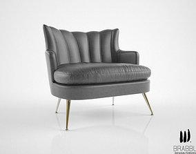 3D Brabbu Plum armchair