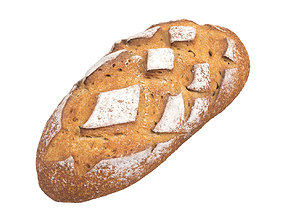 bakery Photorealistic Bread 3D Scan 3