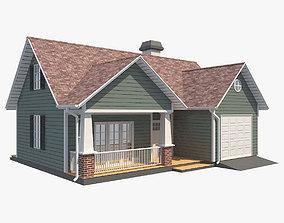3D asset Family House 5
