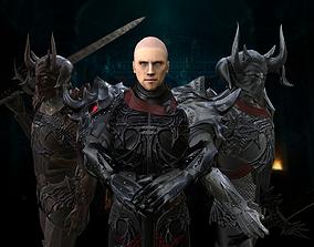 Dragon Knight 3D asset rigged