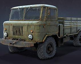 GAZ-66 Flatbed Rusty 3D asset