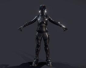 3D model female Space Engineer