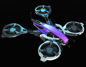 3D Concept sci fi drone
