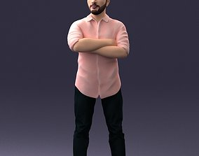 Man in pink t-shirt 1121 3D Print Ready miniatures