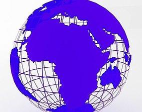 Blue Earth Globe 3D model