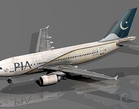 A310-300 Low Polygon 3D model