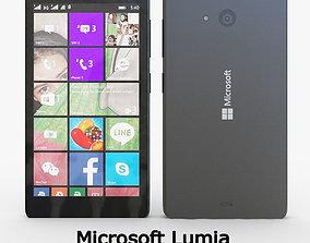 3D model Microsoft Lumia 540 Dual SIM Black