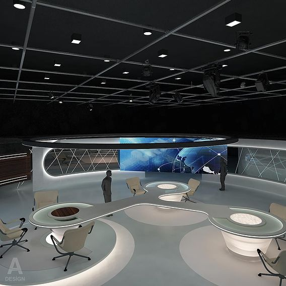 Virtual  News Studio 028