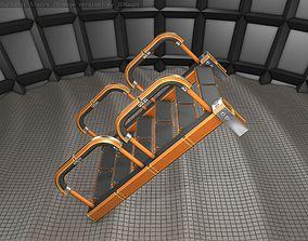 Sci-Fi Stairs - 26- Orange Version 3D asset