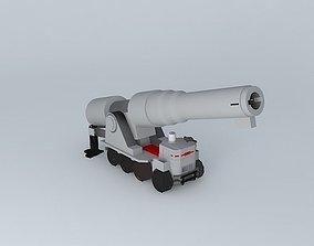 Mobile artillery 3D model