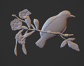 Bananaquit bird Relief 3D print model