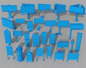 3D model Billboards - 28 pieces