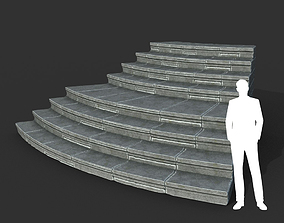 3D model Low poly Ancient Roman Ruin Construction R6 - 1