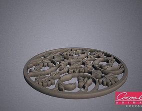 3D model Rose Window 02