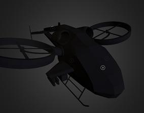 Helicopter Gunship 3D model