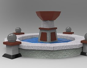 Fountain water 3D model