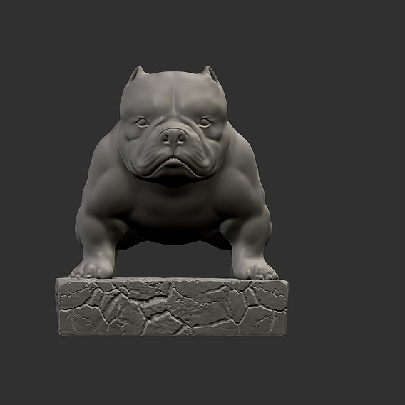 Bulldog Statue 3D Printable