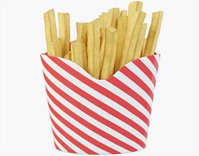 Box of Fries 3D model