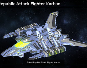 Enkar Republic Spaceship Fleet Collection 3D
