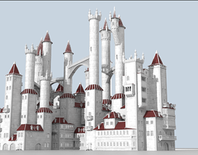 tower 3D model Procedural generator of random castles
