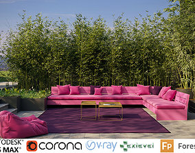 Bamboo Collection - Include GrowFX and Mesh file 3D model