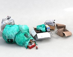 3D asset rubbish waste garbage trash crap junk