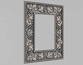 Frame mirror with grape vine 3D print model