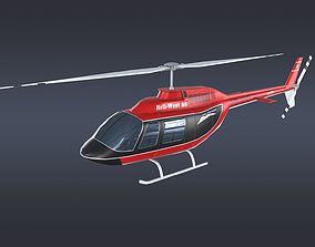 3D asset Helicopter Bell 206