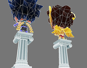 3D asset Free Saints Seiya Ikki and Saori