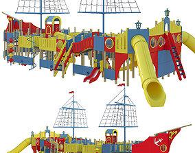 Childrens play complex Karavella 3D model exterior