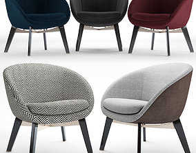 Minotti russell easy chair 3D