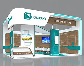 3D model Exhibition Booth Stand Stall 8x8m Height 450 cm 3