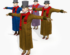 Victorian Dickens Man 1 STATIC not rigged - Low 3D asset 1