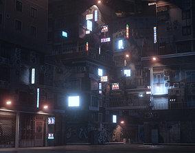 Cyberpunk Theme Environment 3D model