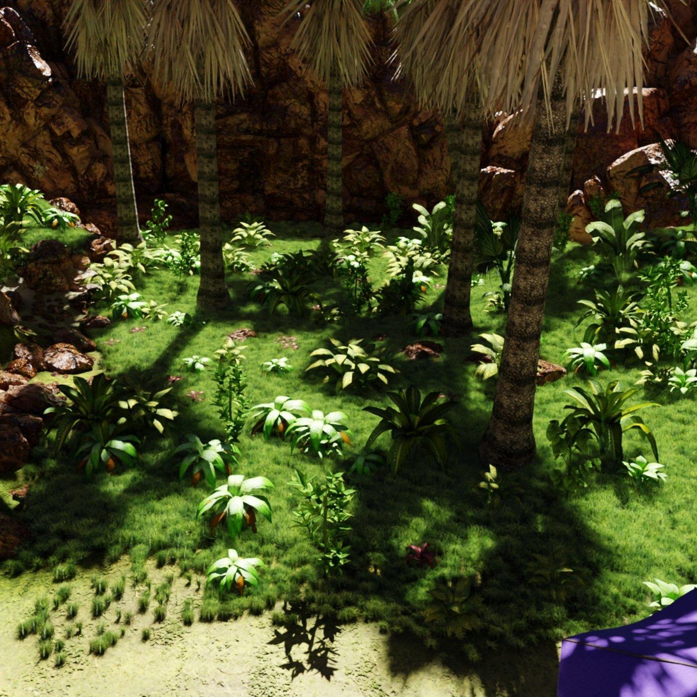 Tropical Beach Scene | Scene 29 v2