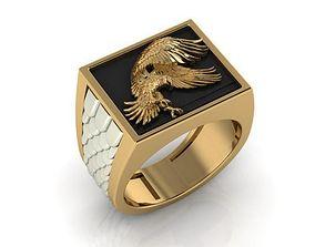 3D print model animal eagle ring
