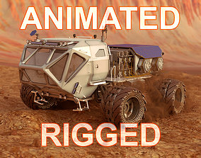 nasa 3D model Mars Rover Rigged Animated
