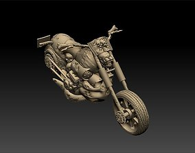 figurines Haunted Motorbike Figurine 3D printable model