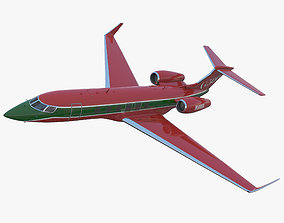 rigged Business Jet Gulfstream G500 2 Rigged 3D Model