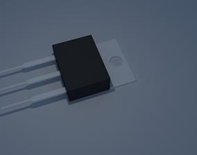 MOSFET Transistor 3D model