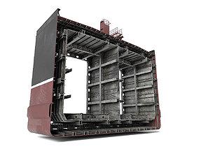 3D model Tanker ship section