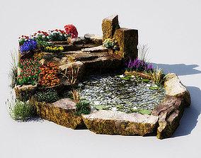3D model garden pond 11 AM148
