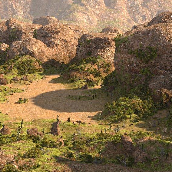 Rocky terrain in Blender