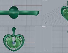 3D print model Baby Legs Pendant For Mom