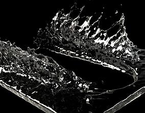 3D model Puddle splash