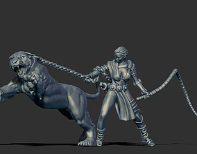 Lioness handler 35mm scale 3D printable model