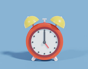 Cartoon Clock 3D model game-ready